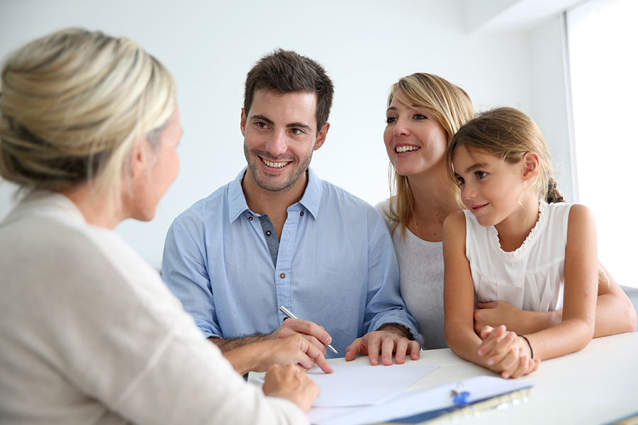 Family meeting with a conveyancing lawyer