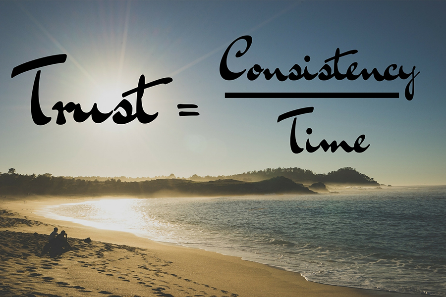 Trust Formula: trust equals consistency over time